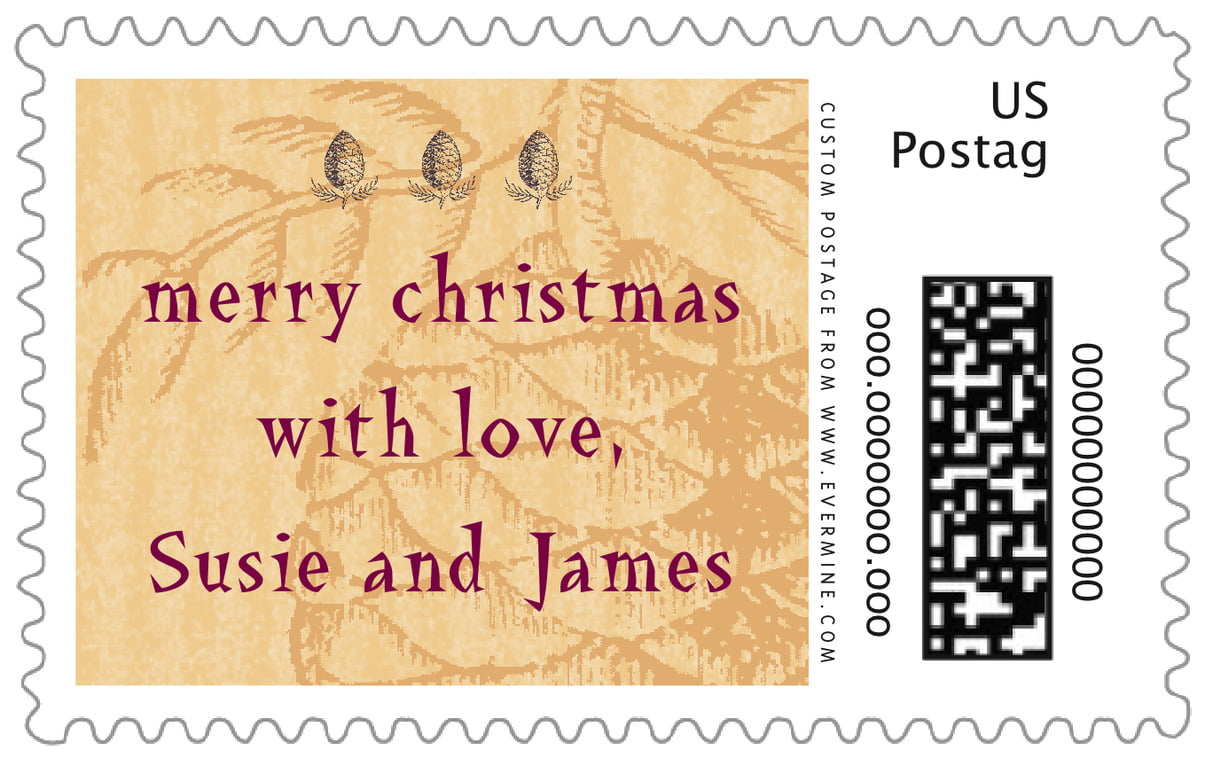 custom large postage stamps - honey - sugar pine (set of 20)