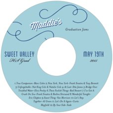 Swing Cd Label In Blue