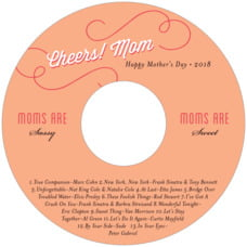 Swing Cd Label In Peach