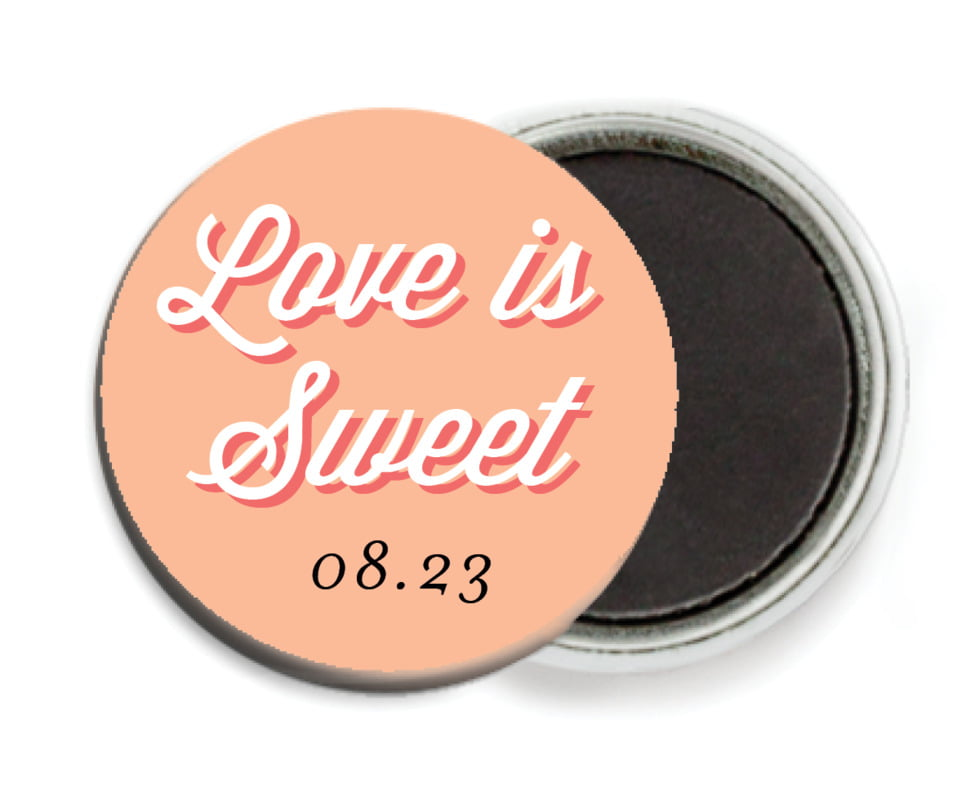 custom button magnets - peach - swing (set of 6)