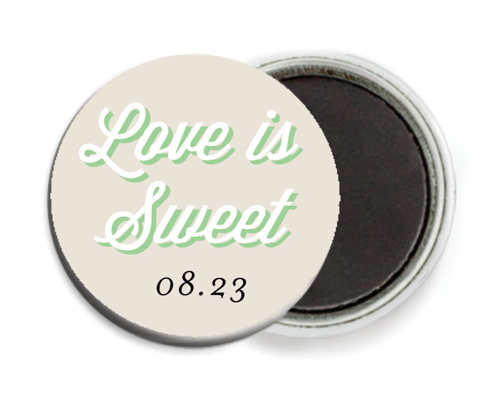 custom button magnets - grass - swing (set of 6)