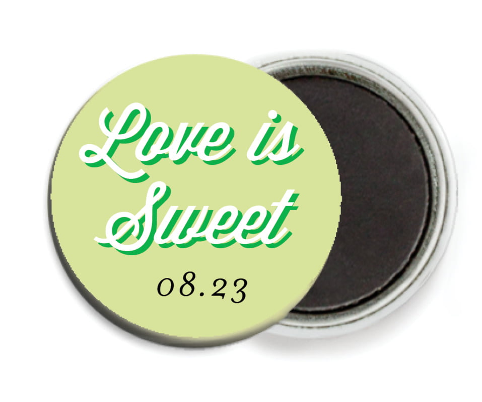 custom button magnets - lime - swing (set of 6)