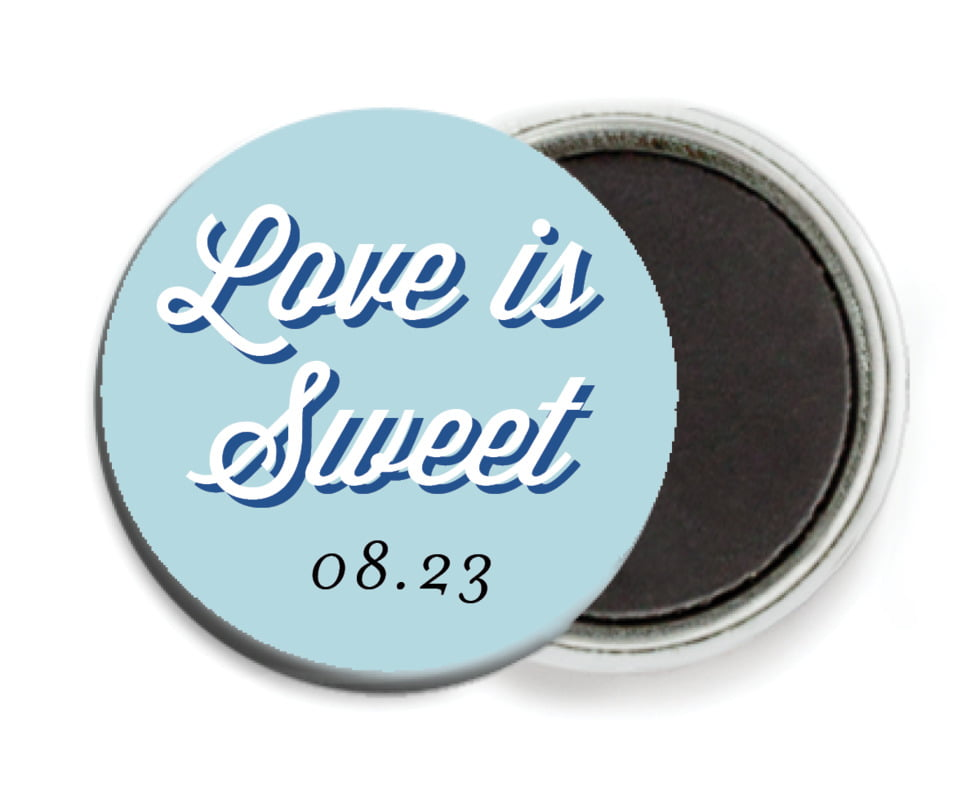 custom button magnets - blue - swing (set of 6)