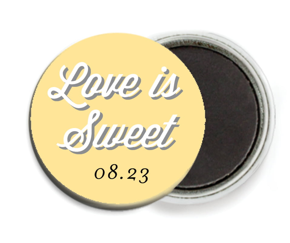 custom button magnets - sunburst - swing (set of 6)