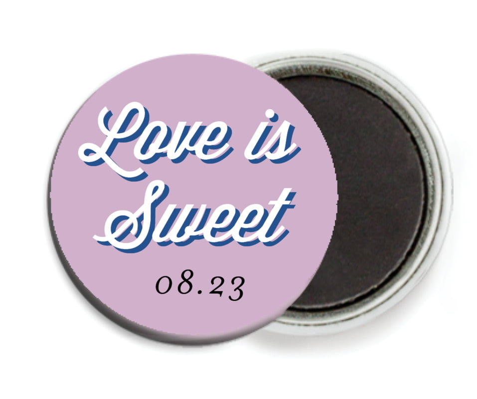 custom button magnets - lilac - swing (set of 6)