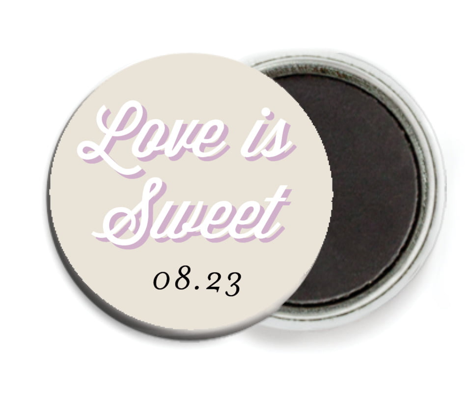 custom button magnets - champagne - swing (set of 6)