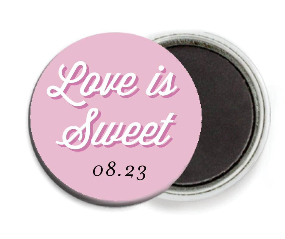 custom button magnets - radiant orchid - swing (set of 6)
