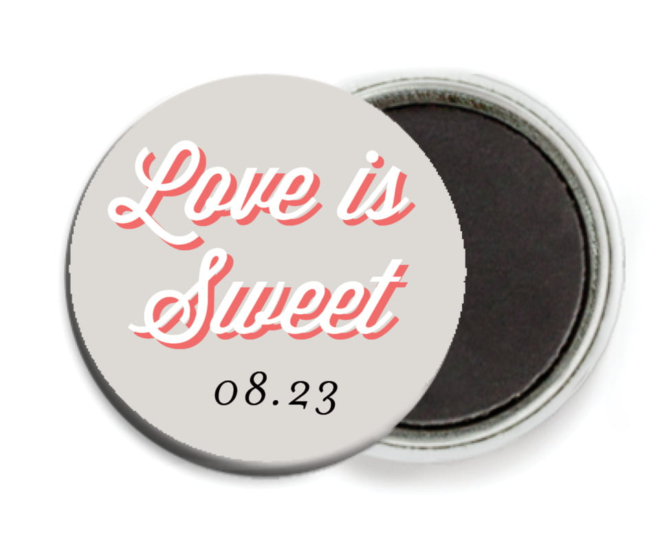 custom button magnets - stone - swing (set of 6)