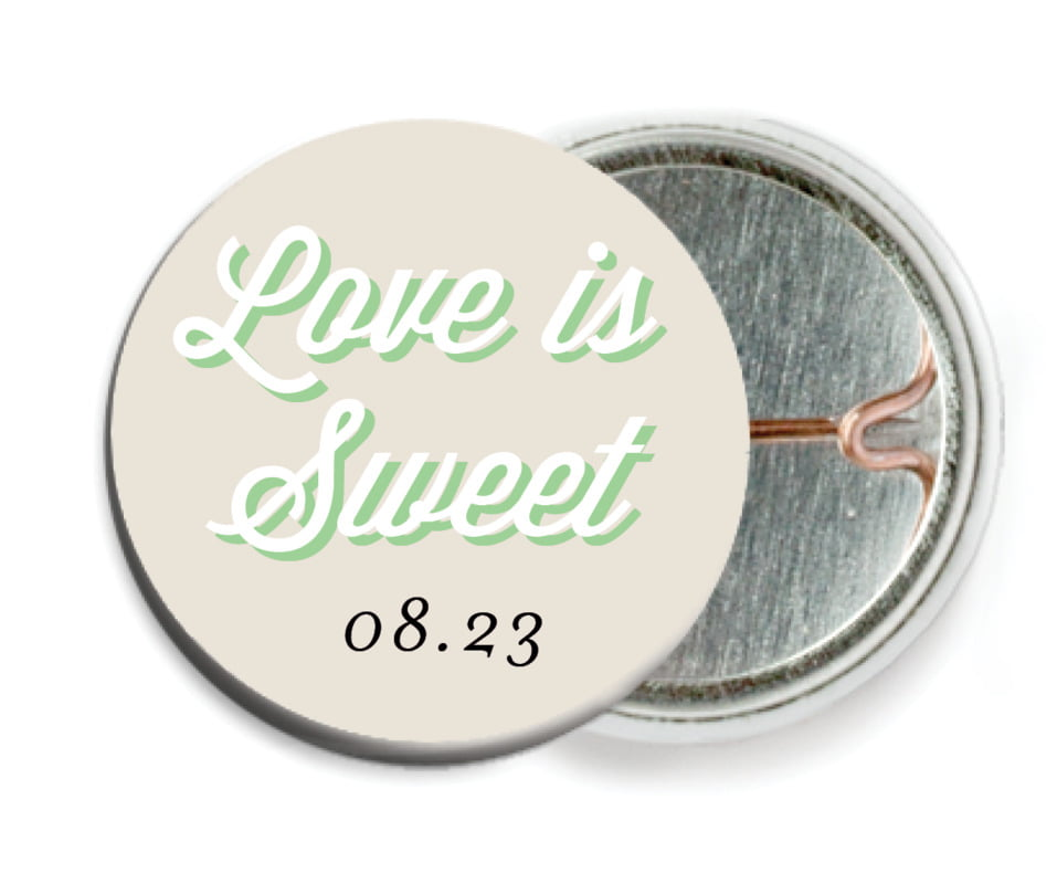 custom pin back buttons - grass - swing (set of 6)