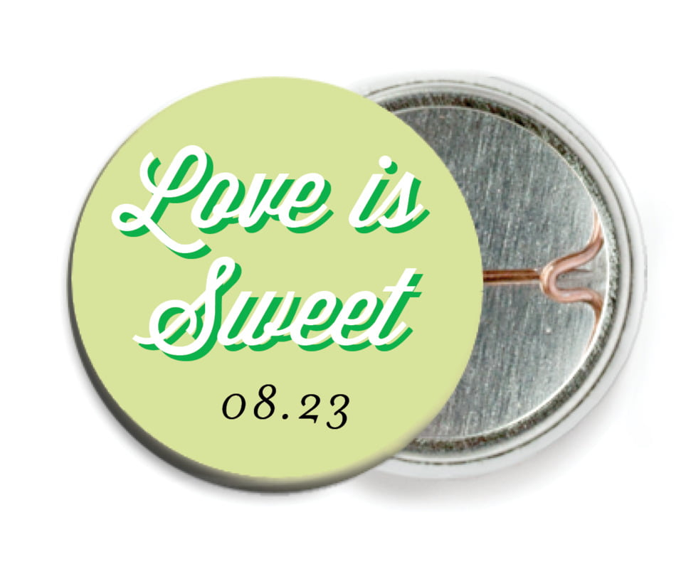 custom pin back buttons - lime - swing (set of 6)