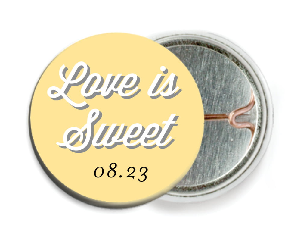 custom pin back buttons - sunburst - swing (set of 6)