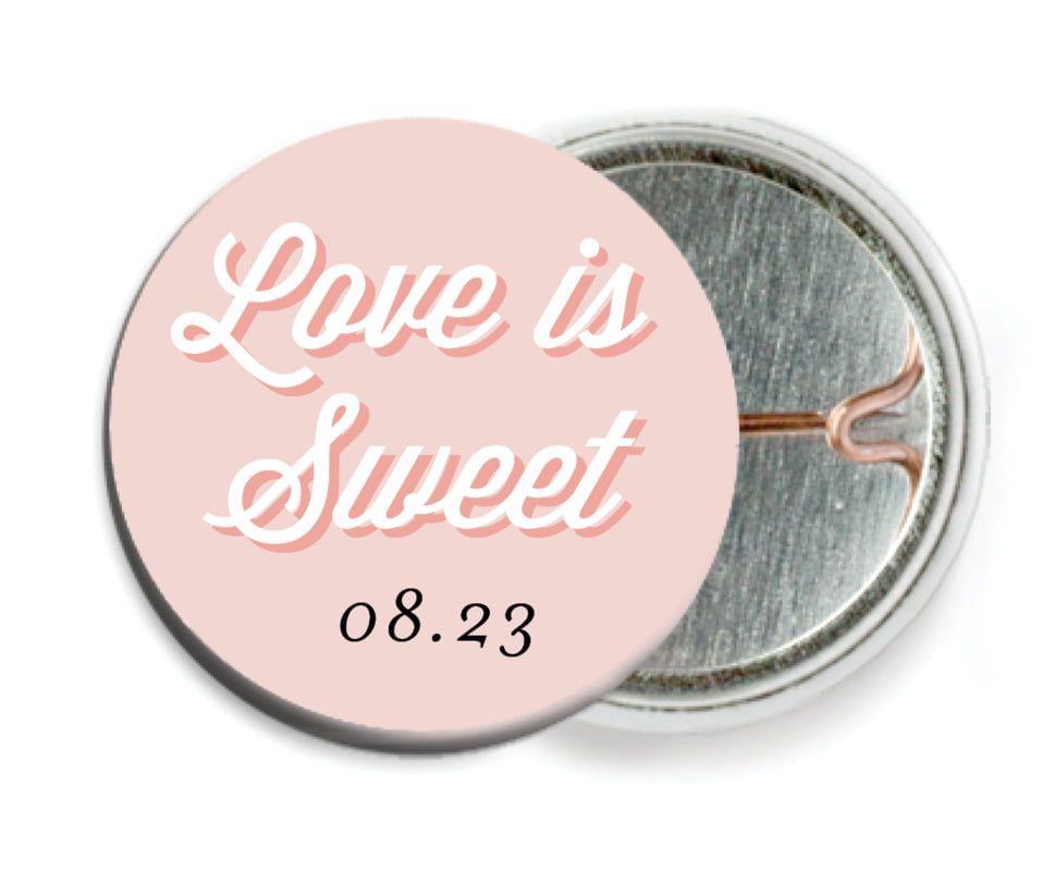 custom pin back buttons - pale pink - swing (set of 6)