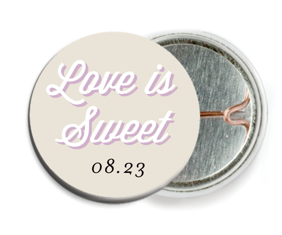 custom pin back buttons - champagne - swing (set of 6)