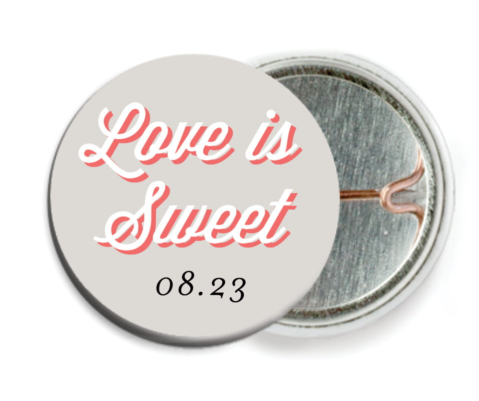 custom pin back buttons - stone - swing (set of 6)