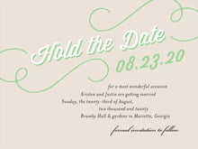 custom save-the-date cards - grass - swing (set of 10)