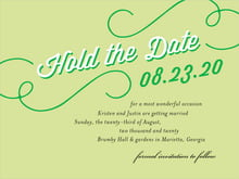 custom save-the-date cards - lime - swing (set of 10)