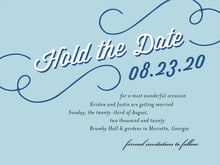 custom save-the-date cards - blue - swing (set of 10)