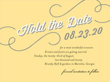 custom save-the-date cards - sunburst - swing (set of 10)