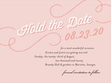 custom save-the-date cards - pale pink - swing (set of 10)