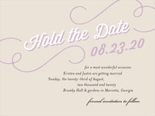 custom save-the-date cards - champagne - swing (set of 10)
