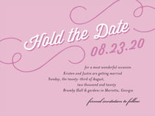 custom save-the-date cards - radiant orchid - swing (set of 10)