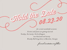 custom save-the-date cards - stone - swing (set of 10)