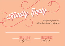 custom response cards - peach - swing (set of 10)