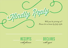 custom response cards - lime - swing (set of 10)