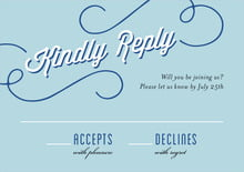 custom response cards - blue - swing (set of 10)