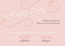 custom response cards - pale pink - swing (set of 10)