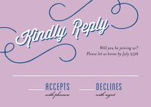 custom response cards - lilac - swing (set of 10)