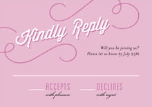 custom response cards - radiant orchid - swing (set of 10)