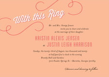 custom invitations - peach - swing (set of 10)