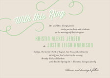 custom invitations - grass - swing (set of 10)