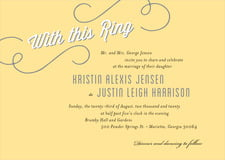 custom invitations - sunburst - swing (set of 10)