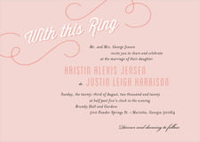 custom invitations - pale pink - swing (set of 10)