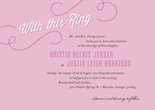 custom invitations - radiant orchid - swing (set of 10)