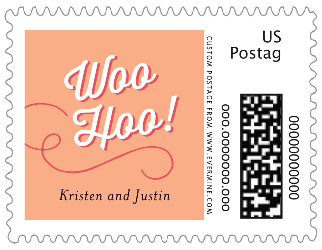 small custom postage stamps - peach - swing (set of 20)