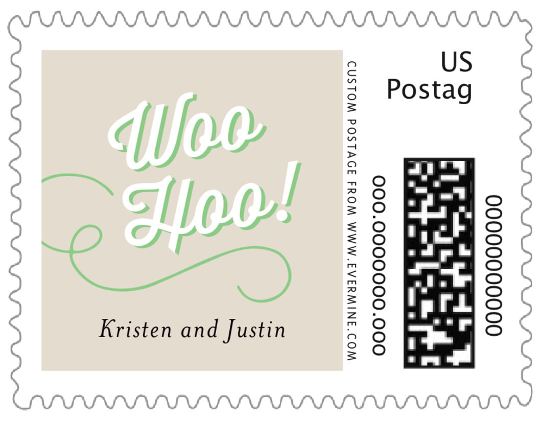 small custom postage stamps - grass - swing (set of 20)