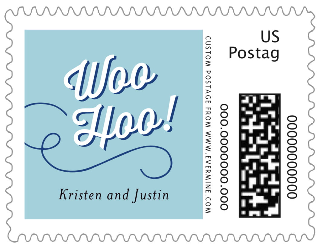small custom postage stamps - blue - swing (set of 20)