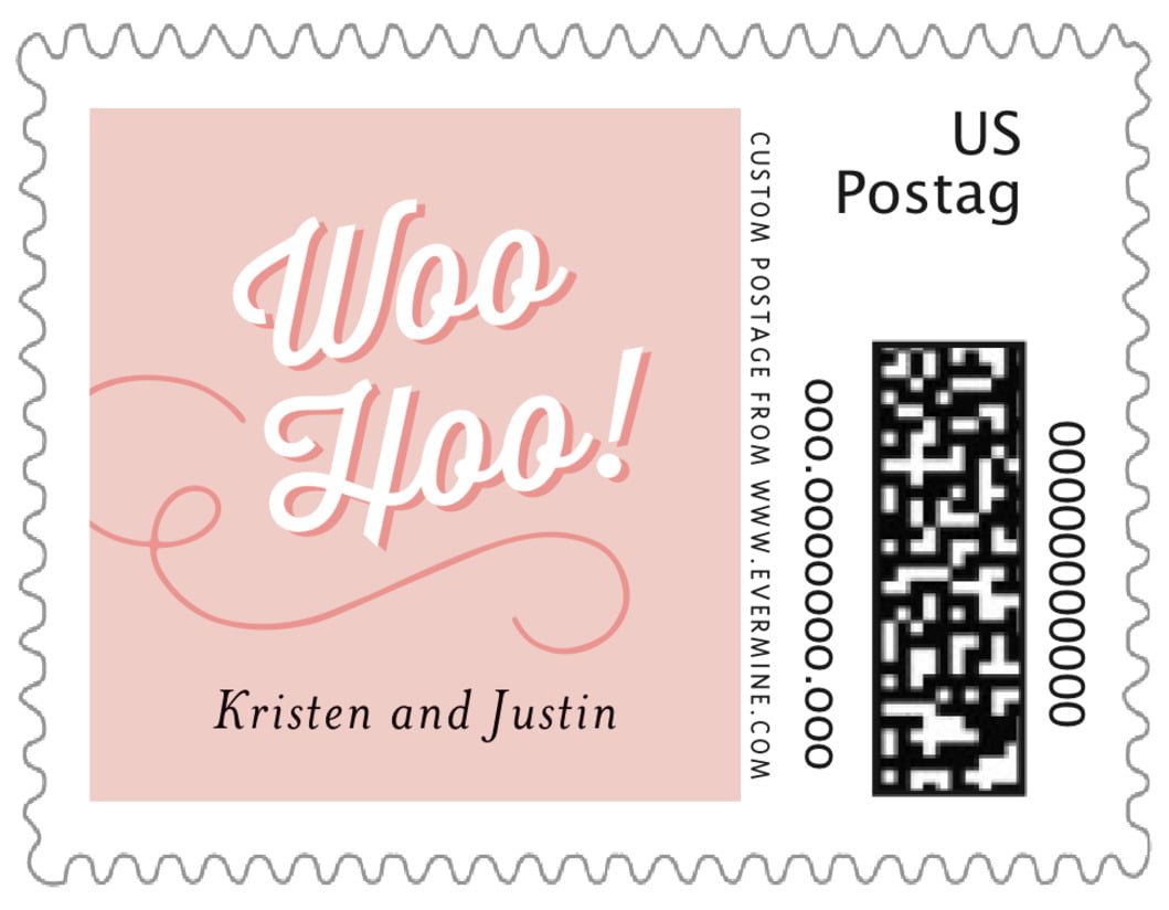 small custom postage stamps - pale pink - swing (set of 20)