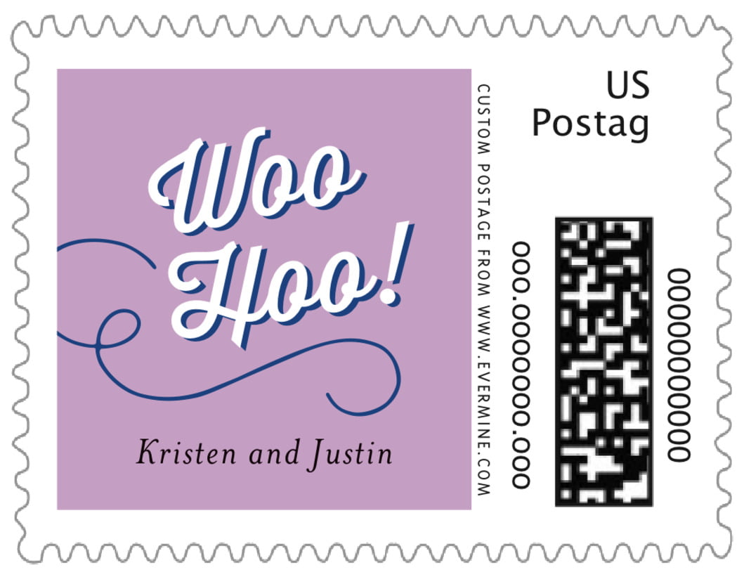 small custom postage stamps - lilac - swing (set of 20)