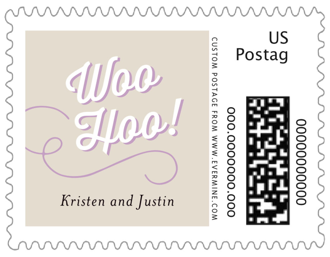 small custom postage stamps - champagne - swing (set of 20)