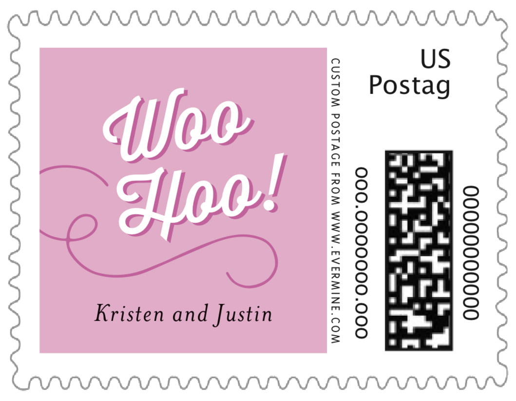 small custom postage stamps - radiant orchid - swing (set of 20)