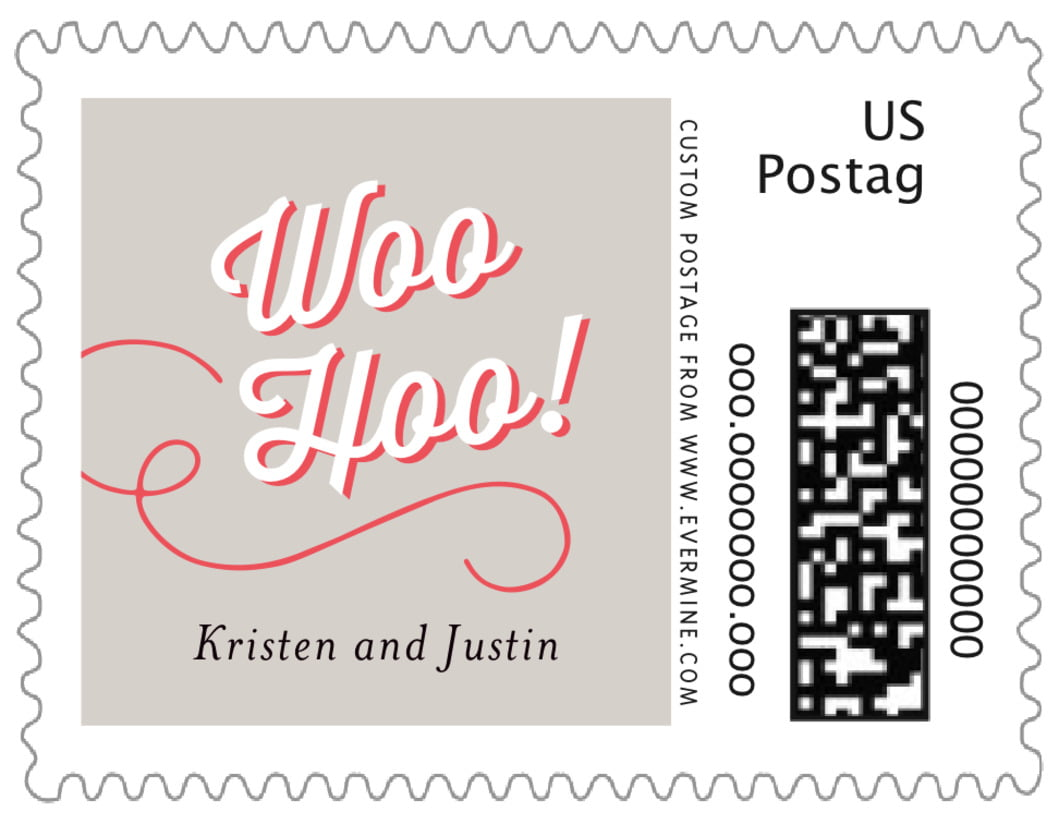 small custom postage stamps - stone - swing (set of 20)