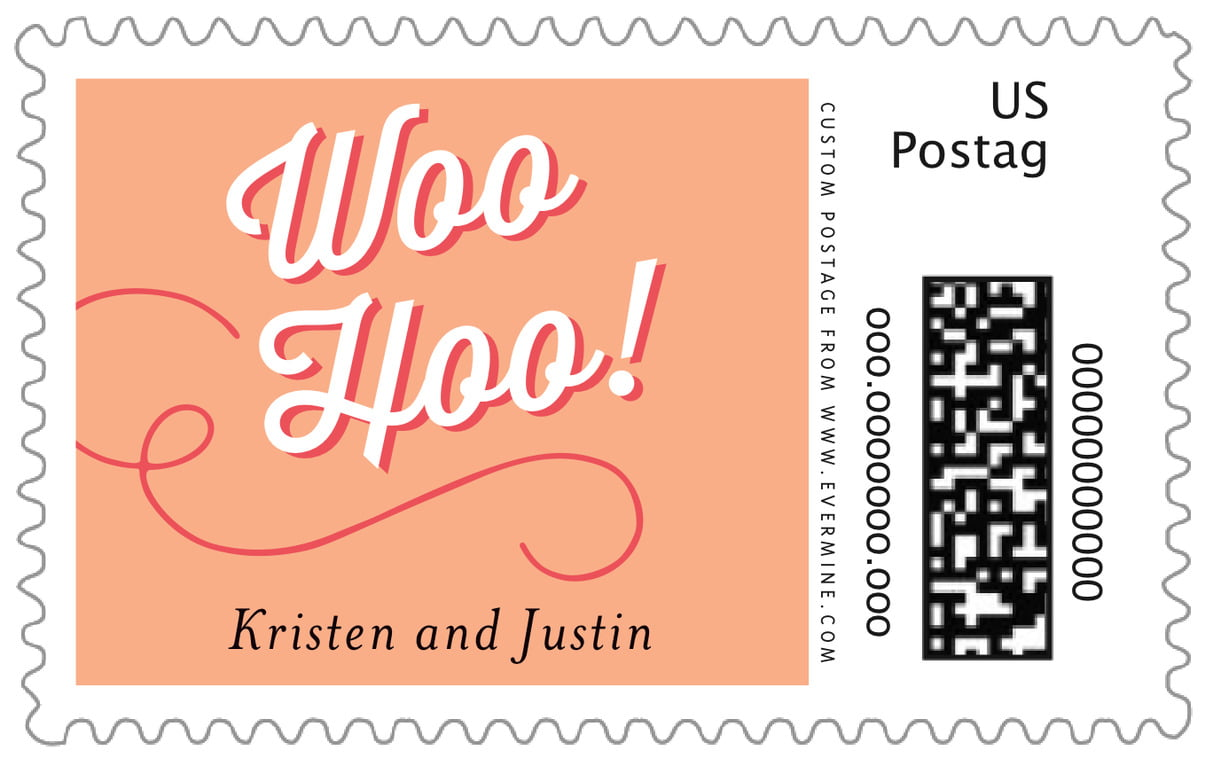 custom large postage stamps - peach - swing (set of 20)