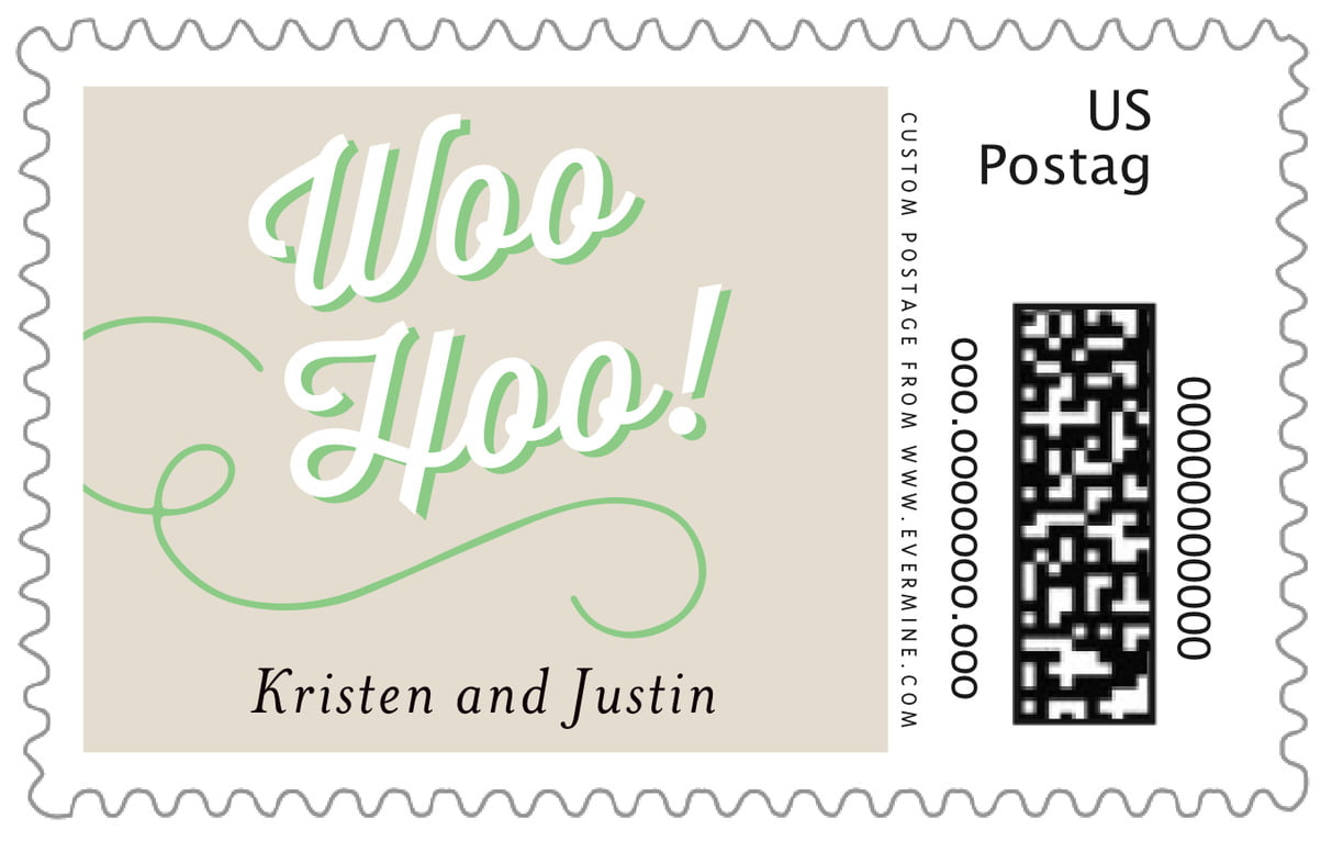 custom large postage stamps - grass - swing (set of 20)