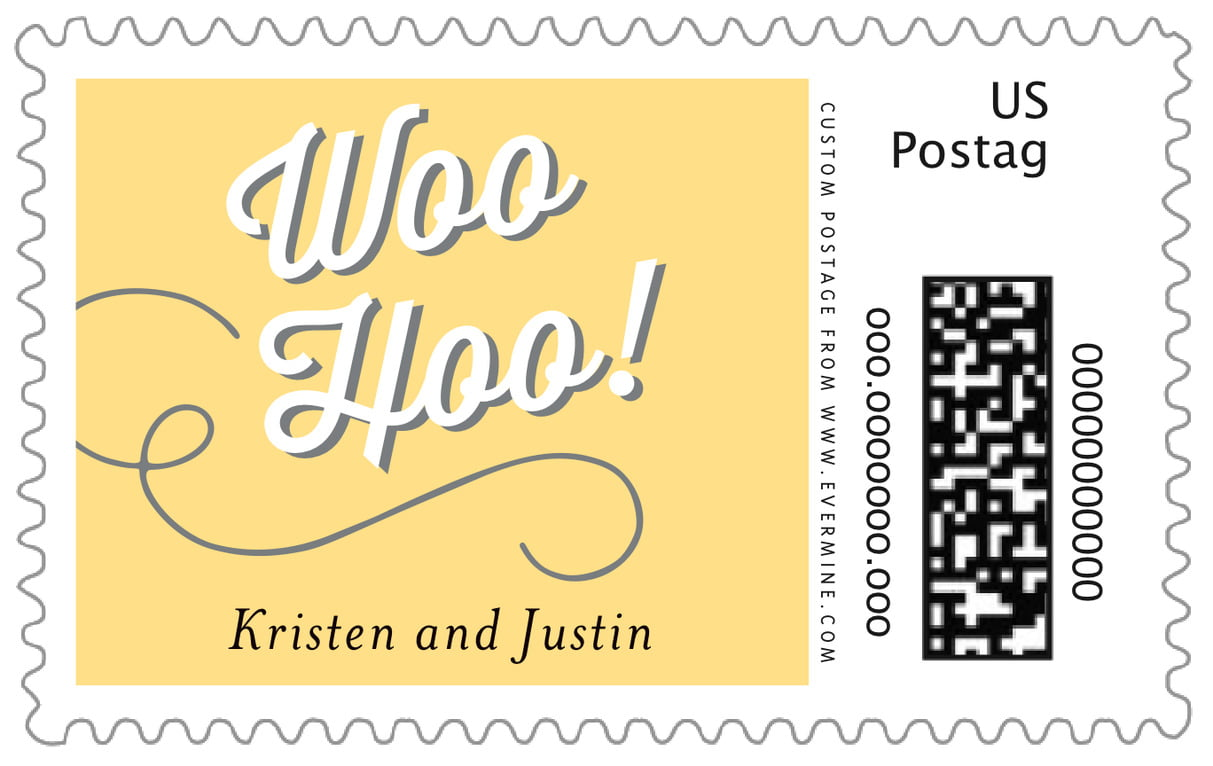 custom large postage stamps - sunburst - swing (set of 20)