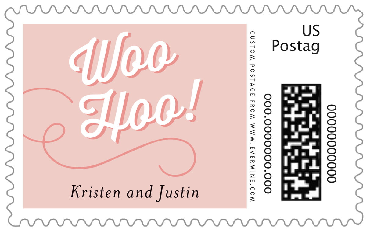 custom large postage stamps - pale pink - swing (set of 20)