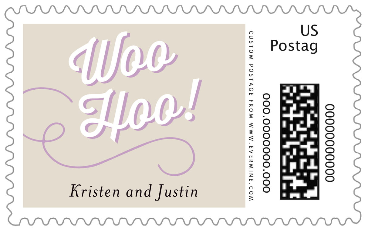 custom large postage stamps - champagne - swing (set of 20)